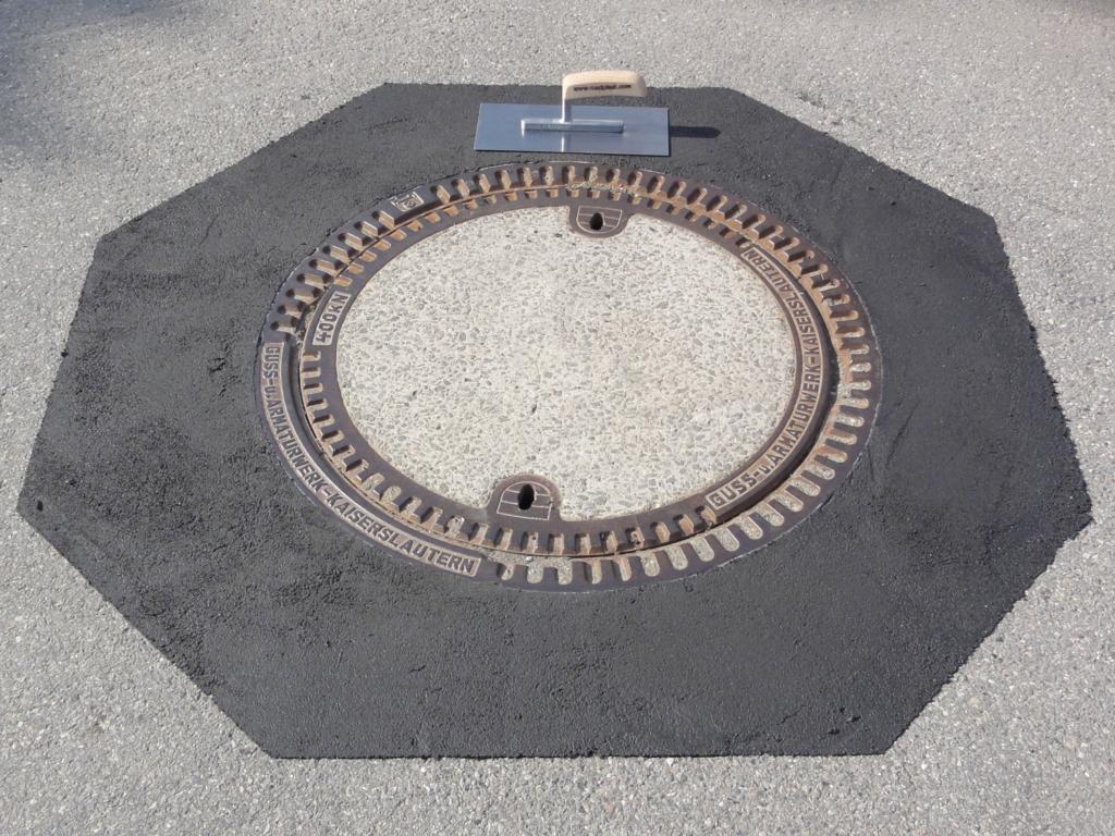Überstehende Kanaldeckel